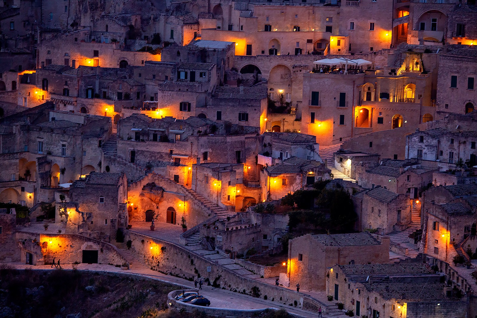 From sunrise to sunset. Matera